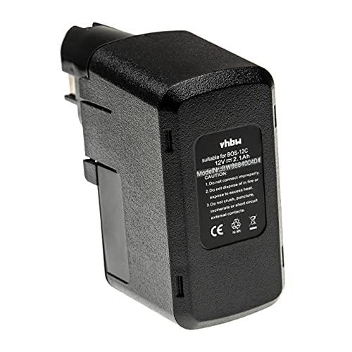 vhbw Batería recargable compatible con Bosch BABS 12V, BH-1214, GBM 12VES-2, GLI 12V, GSB 12 VSE-2 herramientas eléctricas (2100 mAh NiMH 12 V)