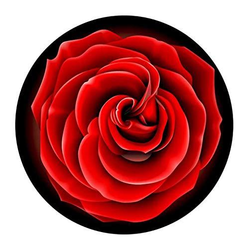 CuisineDuChef Tapis Tapis Ronds De Salon Tapis De Chaise Tapis Rond Couloir Doux Tapis Rond Antidérapant Protection Sol Dur (Color : Red, Size : Diameter-100cm)