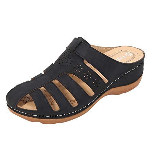 Read About kaifongfu Women's Hollow Out Slides Sandals Girls Comfortable Round Toe Wedge Sandals Sof...