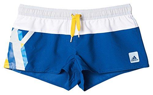 adidas Damen Badeshorts BGII AOP SH, Blau, 44