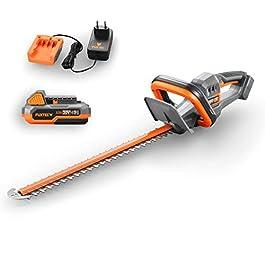 Fuxtec Taille-haie 20V avec Batterie FX-E1HS20 Taille-haie électrique avec Batterie Li-ION 2Ah et Chargeur 1A – Longueur…