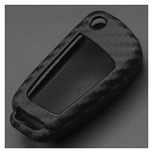 SHUAI Caja de Llave de Coche Remoto Protector DE Silicona Ajuste para Audi A3 8L 8P A4 B6 B7 B8 A6 C5 C6 4F RS3 Q3 Q7 TT TT (Color Name : Only Cover)