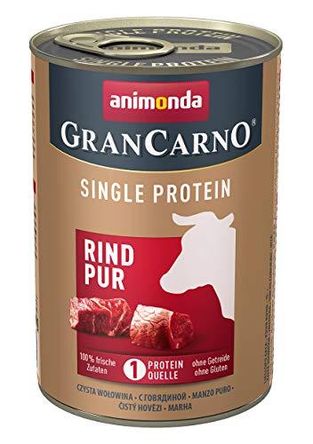 animonda Gran Carno adult Single Protein Hundefutter, Nassfutter für ausgewachsene Hunde, Rind pur, 6 x 400 g, 6er Pack (6 x 0.4 kilograms)