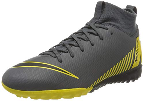 Nike Superfly 6 Academy, Scarpe da Calcio, Grigio (Dark Grey/Black-Dark Grey), 37 EU