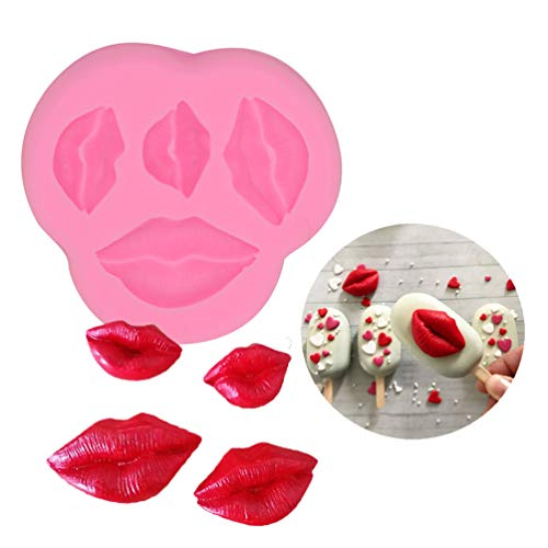 BUSOHA Lips Fondant Molds - Lips Kiss Collection Silicone Mold for Cake Decoration Chocolate Small Pastry Sugarcraft Baby Shower Wedding bachelor Party Supplies Favors