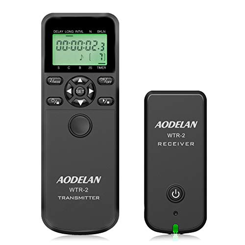 Camera Remote Wireless Shutter Release Intervalometer with LCD for Canon EOS RP,...