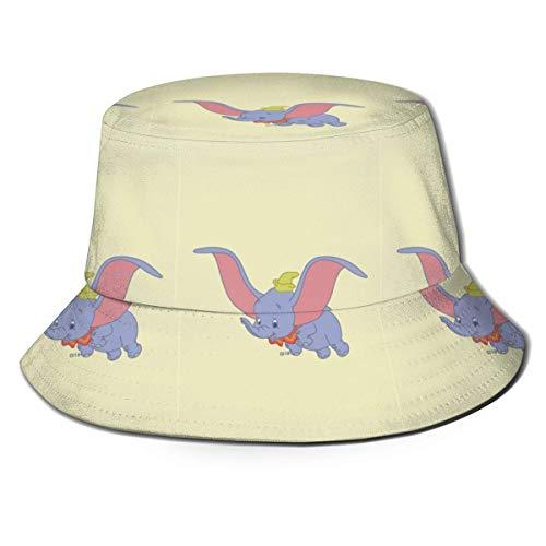 Hdadwy Bucket Hat Dumbo Yellow Impreso Packable Summer Outdoor Cap Sun Fishing Boonie Sombreros