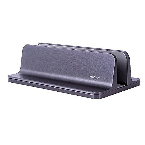 MOSISO Supporto Verticale per Laptop, Supporto da Tavolo in Lega di Alluminio Salvaspazio Compatibile on iPad PRO MacBook Air MacBook PRO Surface PRO e Altri Laptop Notebook,Spazio Grigio