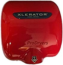 product image for Excel Dryer XL-SP Red XLERATOR Automatic Commercial Hand Dryer,Zinc Die Cast Red Cover, XL-R
