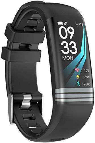 Fitness Mujeres Reloj Inteligente Hombres Podómetro Monitor De Ritmo Cardíaco Presión Arterial Bluetooth Correr Reloj Deportivo Para Android IOS-Negro