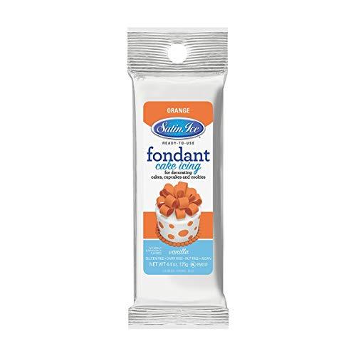 Satin Ice Orange Fondant, Vanilla, 4.4 Ounces