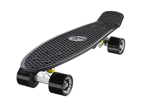 Ridge Skateboards 22' Mini Cruiser Skateboard, Nero/Nero