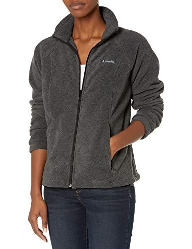 Columbia womens Benton Springs Full Zip Fleece Jacket, Charcoal Heather, 2X US