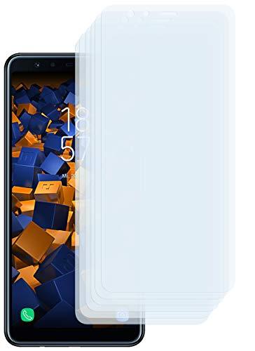 mumbi Schutzfolie kompatibel mit Samsung Galaxy A7 2018 Folie klar, Bildschirmschutzfolie (6X)