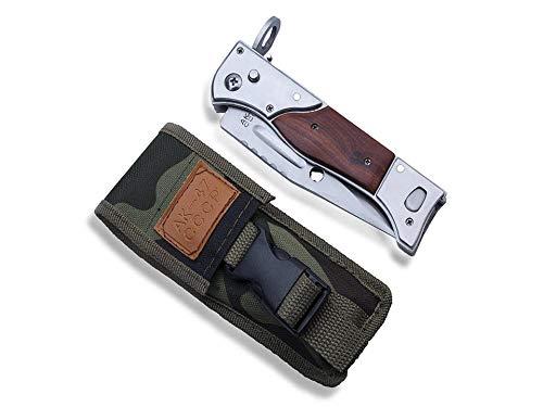 KOSxBO Robustes Messer mit Tasche - Taschenmesser - Klappmesser - Gürtelmesser - Military Knife Set - Camping Zubehör - Survival - Outdoor - Arbeitsmesser