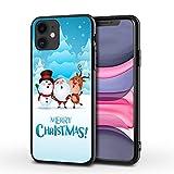 Cover iPhone 12 Mini Custodia per Cellulare di Babbo Natale TPU Soft Touch e Antiurto Protezione Frontale Rialzata Cover,007,iPhone 11promax