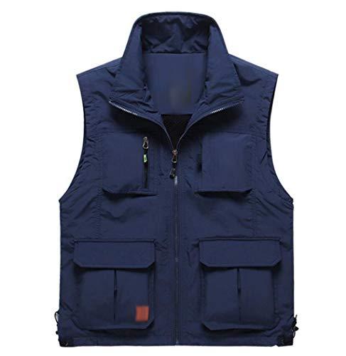 QKDSA herenvest, vrijetijdsvest, fotografie-vest, meerdere zakken, voor heren, middeleeuws vest