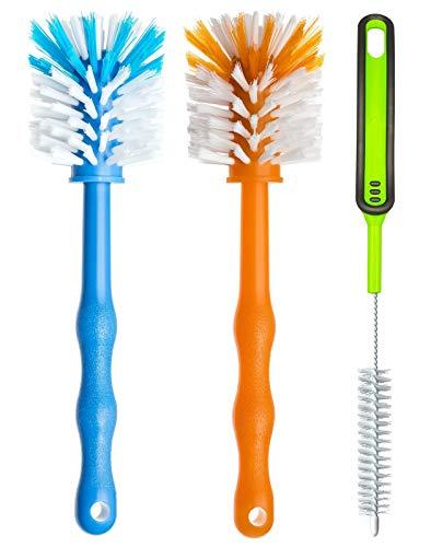 Deine Bürste Reinigungsbürste 3er Pack – Spülbürste für Mixbehälter und Messer - Ideales Zubehör zum Reinigen von Küchenmaschinen, Mixer, Standmixer usw (1x Blau/ 1x Orange /1x Grün)