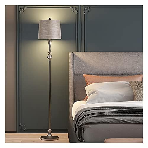 WYZ Lámpara de pie, Moda Minimalista Moda Moda LED Fuente de Luz Uso y Dormitorio, Sala de Estar y Lámparas Verticales de Cocina y Lámparas De Piso (Color : Remote Control Switch)