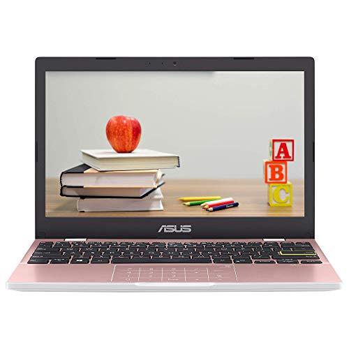 ASUS VivoBook E210MA 11.6' HD laptop (Intel Celeron N4020, 4GB RAM, 64GB eMMC, Windows 10 S), Pink (Renewed)