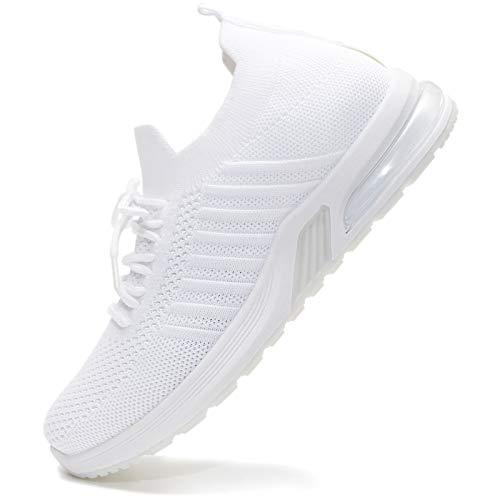 Vain Secrets Damen Sneaker Socken Laufschuhe Sportschuhe Freizeit Schuhe in 5 Farben (Weiß, Numeric_40)