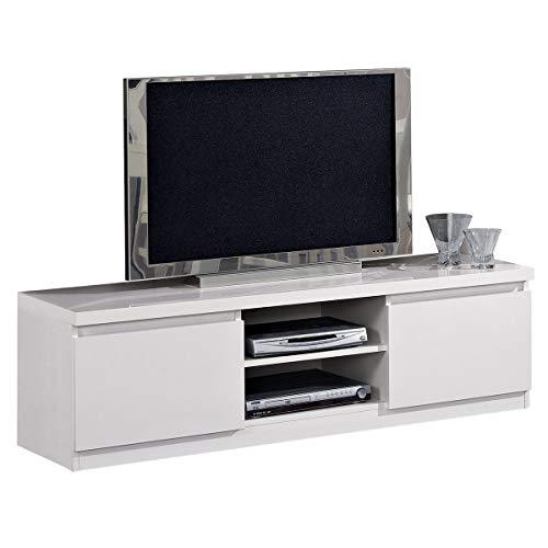 MF Mobile Porta TV Roma Bianco Laccato Lucido, 150 x 50 x h45 cm