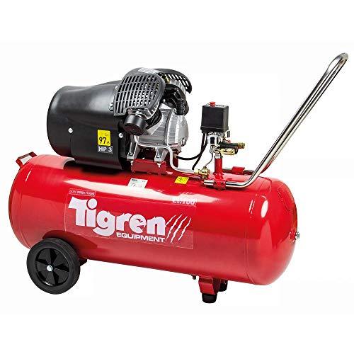 Tigren Electric Air Compressor 100 Litre 3HP 8 BAR 13CFM Direct Drive