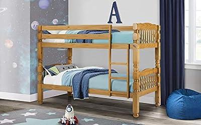 Julian Bowen Chunky Bunk Bed, Pine, Single
