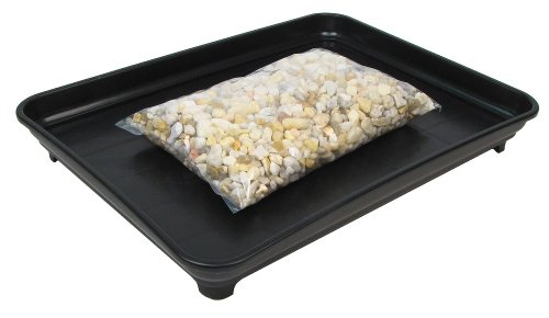 Eve's Garden Bonsai Humidity Drip Tray 9' x 12' with Pebbles Overall Size 9' x 12' to fit a 7.75'x10.75' on The Bottom of The Pot
