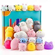 """Elastic material: TPR, thermo-plastic-Rubber material, non-toxic (Do not put them into mouth! ) Size: 4-7cm / 1.58""""-2.76"""". Super cute, suitable for both adults and children to play A variety of cute animal shapes, rabbit, bear, pig, ect. Mini stress ..."""