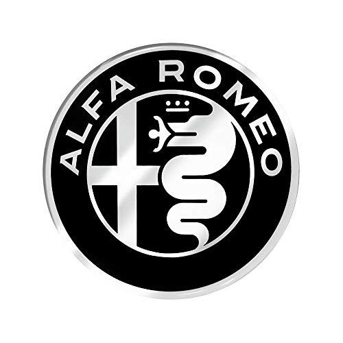 Pegatinas 3D oficiales Alfa Romeo Logo, diámetro 75 mm