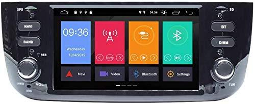 FGVBC Auto Radio Compatible con Fiat Linea Punto 2012-2015 Estéreo Auto Navegación GPS Reproductor Multimedia Unidad Principal de Doble DIN con IPS DSP Car Play