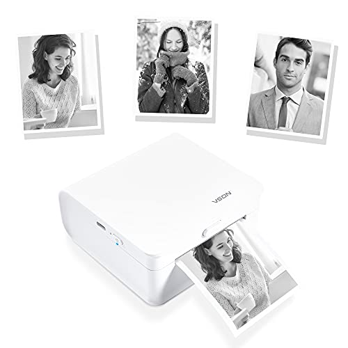 Vetbuosa Mini Pocket Printer - Small Wireless Bluetooth Portable Printer Thermal Printer Compatible with iOS + Android for Picture Photo Label Memo Journal Notes with 1 roll Thermal Paper (White)