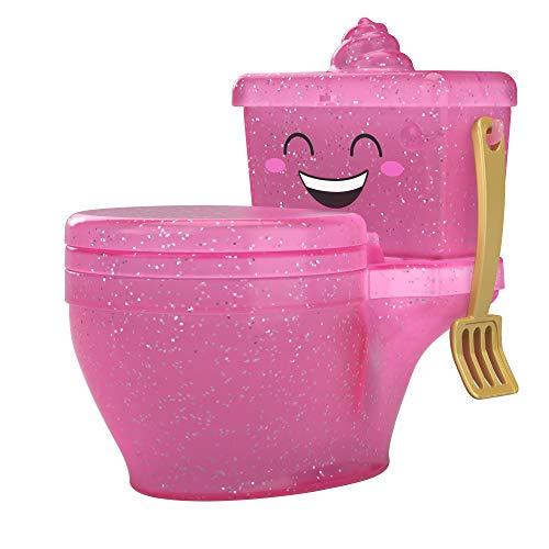 Pooparoos, mascotas de juguete sorpresa con inodoros  (Mattel FWN06), Surtido, Colores Aleatorios