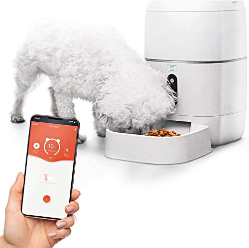 Home Zone Pet Automatic Feeder - Smart Wireless Pet Feeder for Small Dogs and Cats, 6L