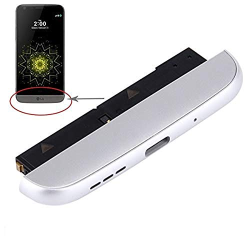 Ogodeal Module Replacement +Microphone + Loudspeaker + Bottom Chin Cover Cap + Battery Charging USB-C Port Replacement For LG G5 At&T Carrier H831 H820 Silver