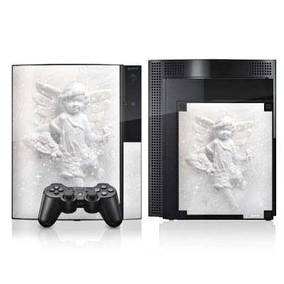 DeinDesign Skin kompatibel mit Sony Playstation 3 Folie Sticker Engel Glücksbringer Schutzengel