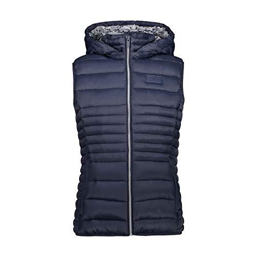 CMP Damen Gilet Con Imbottitura 3m Thinsulate Featherless Jacke, blau (Schwarz Blau), 36