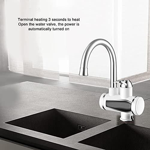 Grifo de baño, rociador de grifo, juego de rociador de cabeza de grifo de calentador de agua eléctrico de baño instantáneo G1/2 3000W
