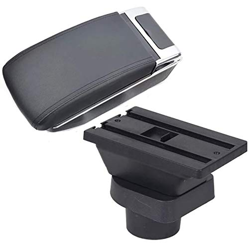 BNMKL Caja De Reposabrazos para Consola Central De Coche, Caja De Almacenamiento, Organizador De Cuero PU, Reposabrazos para Mitsubishi Colt, Accesorios Interiores