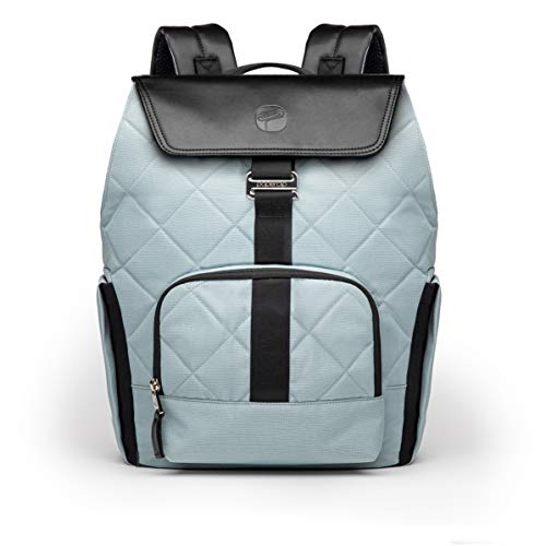 PAPERCLIP JoJo Blue Quilted Diaper Bag Backpack Changing Pad JoJo Plus - Large Capacity, Stylish, Multifunctional - Unisex Diaper Backpack