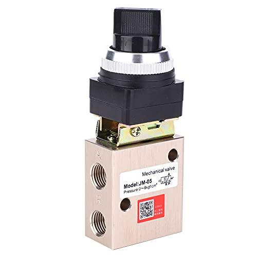 Weikeya Fácil para Instalar en pc Mecánico Válvula, Aluminio Aleación Material 0-8kgf/cm2 Rotación Cabeza Escribe Aire Mano Palanca con Aluminio Aleación