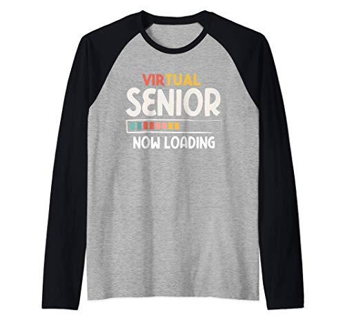 Virtual Senior 2021 Shirt Vintage Now Loading Quarantined Raglan Baseball Tee