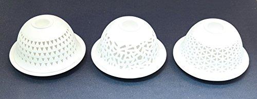 Dome Light doorbroken incl. verdamper voor geuren, 3 designs 11,8 x 11,8 x 6,5 cm NIEUW theelichthouder