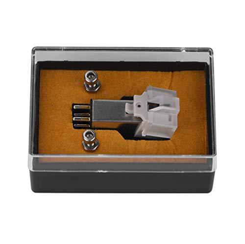 Bewinner Stylus - Lápiz Óptico para Tocadiscos con Aguja de Vinilo LP para Reproductor de Discos Giratorios, Cartucho Magnético Stylus con Aguja de Vinilo LP para Tocadiscos Reemplazo