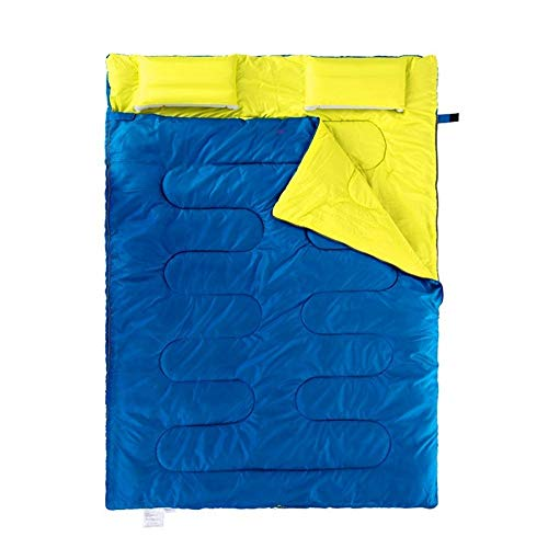 Adult Sleeping Bag Double Sleeping Bags For Adults All Seasons Camping Extra Large Warm Lightweight Spliced Envelope Sleeping Bags Ideal Gear For Hiking Backpacking With 100% Waterproof Compression Ca