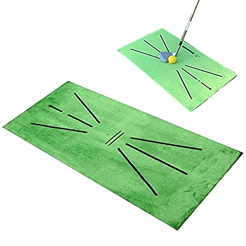 LRIO Golf-Trainingsmatte für Swing Detection Batting Minigolf-Übungs-Trainingshilfespiel und Geschenk,Golf Training Mat for Swing Detection Batting Mini Golf Practice Training Aid Game and Gift