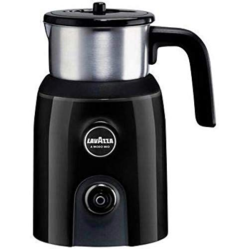 Lavazza Electric Milk Frother Jug, Stainless Steel Container, Black
