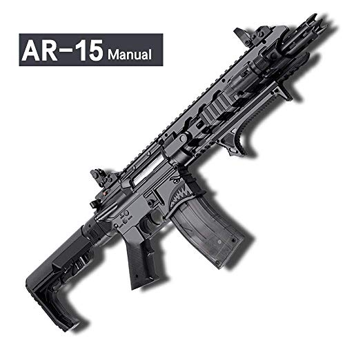 GELRIZTY AR-15 Shark Manual Gel Ball Blaster - Manual Gel Soil Water Crystal Beads Mag-Fed Toy Blaster - Safe and Harmless Toy Gun - Cool Emulation Shape