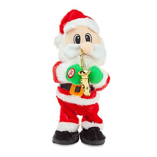 Twerking Santa Claus,Twisted Hip Singing and Dancing saxphone Twerking Santa Electric Christmas Dolls Music Santa Claus Doll Christmas Decorations Xmas Gift for Kids